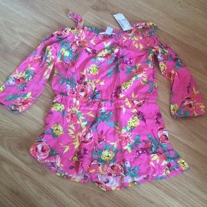 Colorful Children's Place Floral Romper XS(4) NWT